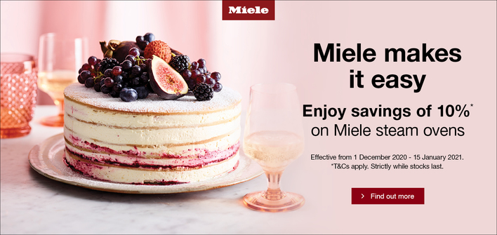 Miele Steam Ovens 10% Off
