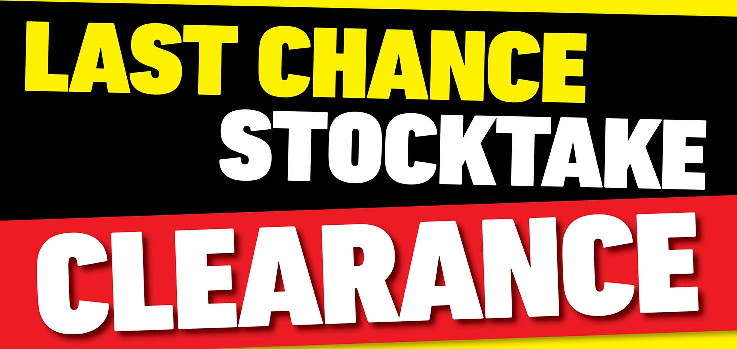Last Chance Stocktake