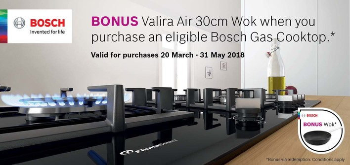 Bosch Gas Cooktop Promotion