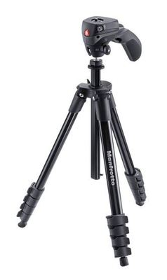 Manfrotto mkcompactacn bk compact action aluminum tripod