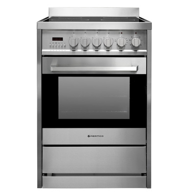 Parmco 600mm Ceramic Freestanding Stove - Stainless Steel