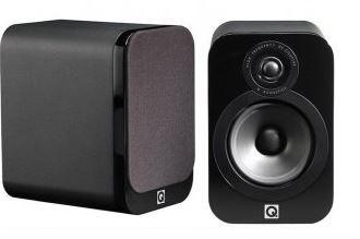 Q Acoustics 3000 series Bookshelf speakers - Black Leather Pair (Display)