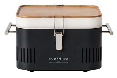 CUBE Charcoal Portable Barbeque - Graphite - Everdure by Heston Blumenthal