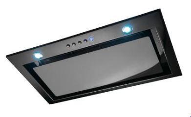 Award 71.8cm Low-Noise Powerpack Rangehood - Black Glass