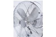 Goldair 30cm Metal Black Chrome Desk Fan