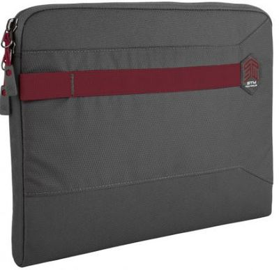STM 15in Summary Laptop Sleeve Granite Grey