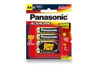 Panasonic AA 8 pack Alkaline Batteries