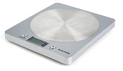 Salter 1036 Disc Electronic Digital Kitchen Scales - Silver