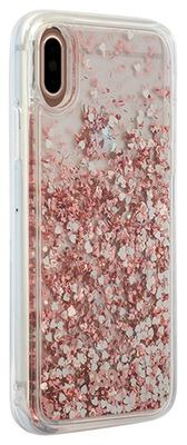 3SIXT iPhone X PureGlitz Case (Rose Gold / Silver)