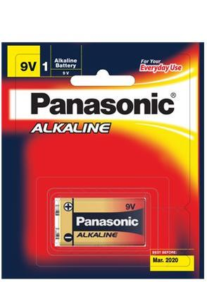 Panasonic Alkaline Battery 9 Volt 1 Pack