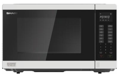 Sharp 1200W White 34L Inverter Microwave