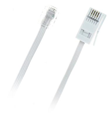 Pudney NZ Plug to Rj11 Plug 2 Wire Crosswired 2M