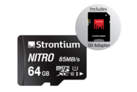 Strontium 64GB Nitro MicroSD Card 85MB/s with Adapter