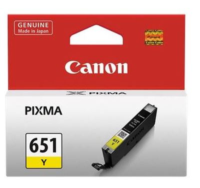 Canon Ink CLi651Y Yellow Cartridge