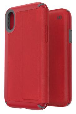 117062 7359 speck iphone xr folio case red grey 3
