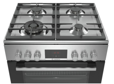 Bosch freestanding dual fuel cookers hxr39ki50a 5