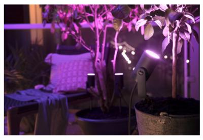 Hue756501 philips hue lily outdoor spot light starter pack 4