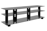 "OMP Kaiapoi 1600 42-70"" TV Table - 3 Shelf - Black"