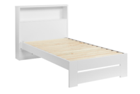 Platform10 Cosmo Single Bed Frame with Storage Headboard (White)