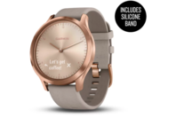 Garmin vivomove HR Rose Gold Stainless Steel Case with Grey Suede Band