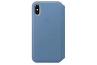 Apple iPhone XS Leather Folio - Cornflower