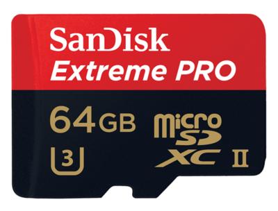 Sandisk 64GB Extreme Pro MicroSD UHS-II Card