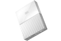 WD 2TB My Passport USB 3.0 Secure Portable Hard Drive (White)