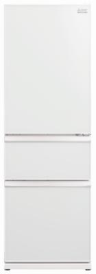 Mitsubishi 402L Glass CX Designer Series Multi Drawer Refrigerator White