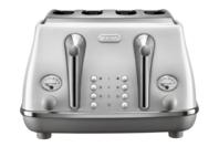 De'Longhi Icona Capitals 4 Slice Toaster - Sydney White