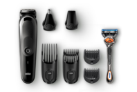Braun All-in-one trimmer - 8-in-1 Trimmer, 6 Attachments and Gillette Fusion5 ProGlide Razor