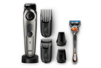 Braun Beard Trimmer with Precision Dial, 4 attachments and Gillette Fusion5 ProGlide Razor