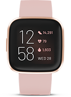 Fitbit Versa 2 Health & Fitness Smartwatch (Petal / Copper Rose Aluminum)