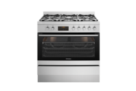 Westinghouse 90cm Stainless Dual Fuel Freestanding Cooker, storage compartment