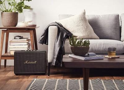 Marshall woburn wireless multi room wifi speaker black %284%29