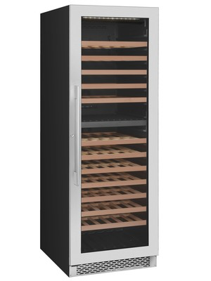 Award 154 Bottle Upright Dual Temperature Wine Cabinet  S/Steel