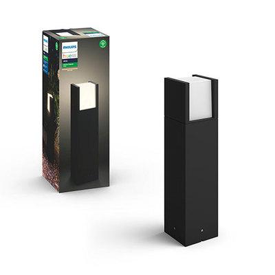 Philips Hue White Outdoor Fuzo Pedestal Black