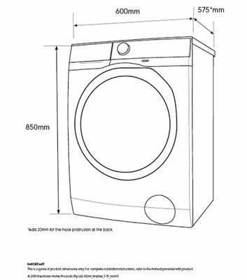 Electrolux 8.0kg front load washer 1200rpm %281%29