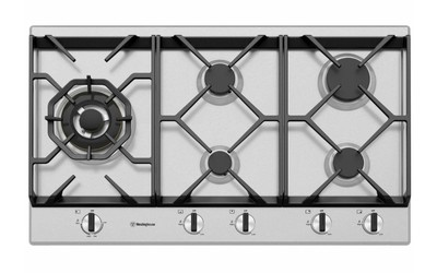 Westinghouse 90cm 5 burner stainless steel gas cooktop