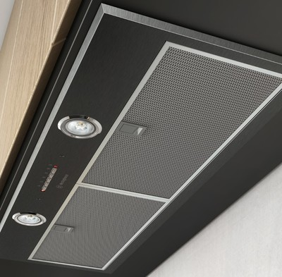 Westinghouse 86cm integrated rangehood   dark stainless steel %286%29
