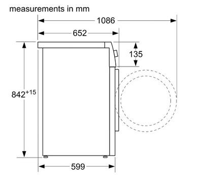 Bosch 8kg heat pump dryer %282%29
