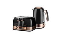 Sunbeam New York Collection Pot Kettle and Toaster - Black Gold