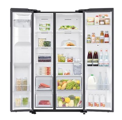 Samsung 656l side by side fridge   black 5