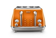 De'Longhi Icona Capitals 4 Slice Toaster - Orange