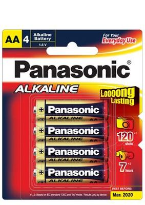 Panasonic Alkaline Batteries 4 X AA