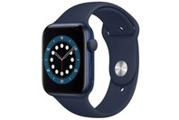 Apple Watch Series 6 GPS, 44mm Blue Aluminium Case with Deep Navy Sport Band - Regular