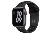 Apple Watch Nike SE GPS + Cellular, 40mm Space Gray Aluminium Case with Anthracite/Black Nike Sport Band - Regular