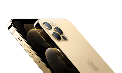 Iphone 12 pro gold close