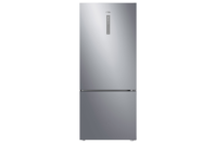 Haier 450L, Bottom Mount Refrigerator Freezer - Stainless steel