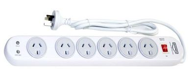 Pudney 6 Way Surge Protection