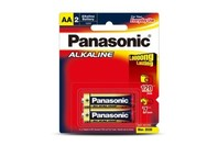 Panasonic Alkaline AA Batteries  2pk